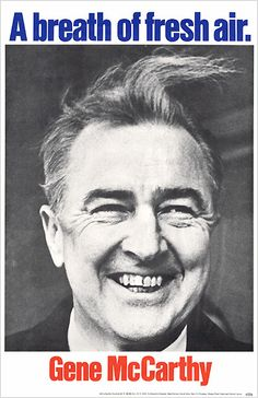 Poster promoting Eugene McCarthy for the Democratic Party's nomination for president of the United States, 1968