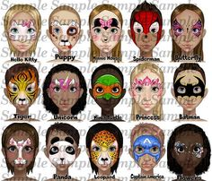 When you think about face painting designs, you probably think about simple kids face painting designs. Many people do not realize that face painting designs go Painting Words, Painting For Kids, Face Painting Halloween Kids, Boy Face, Woman Face, Irezumi Tattoos, Face Painting Tutorials, Easy Face Painting Designs, Art Visage