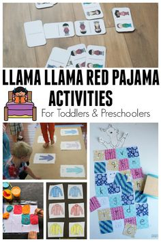Fun activities based on the classic children's storybook Llama Llama Red Pajama by Anna Dewdney ideal for toddlers and preschoolers. Preschool Learning Activities, Preschool Books, Toddler Preschool, Book Activities, Toddler Activities, Preschool Activities, Preschool Lessons, Llama Llama Books, Llama Llama Red Pajama