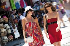 Visit strawmarkets and local stores while in port