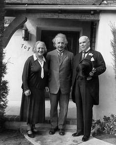 February 19, 1931: Physicist Albert Einstein, center, and his second wife, Elsa, pose with Gov. James Rolph of California during a meeting in which the governor extended official greetings to the visiting couple in Pasadena, California.  | eBay