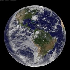 Whole earth NASA photos of Hurricane Irene. Go look at the big one, it is worth checking out.
