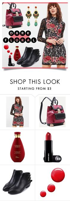 """""""In Bloom: Dark Florals"""" by mahafromkailash on Polyvore featuring WithChic, Topshop and darkflorals"""