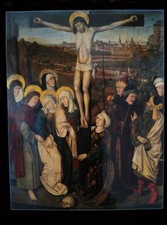 Vlad Dracula Ţepeş. Maria am Gestade, Wien. Kreuzigung, Tafelbild des Meisters von Maria am Gestade (um 1460).