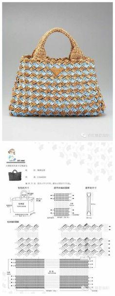 Discover thousands of images about Receitas de Trico e Croche: Bolsa de crochê Crochet Clutch, Crochet Handbags, Crochet Purses, Crochet Bags, Crochet Designs, Crochet Patterns, Crochet Stitches, Knit Crochet, Motif Vintage