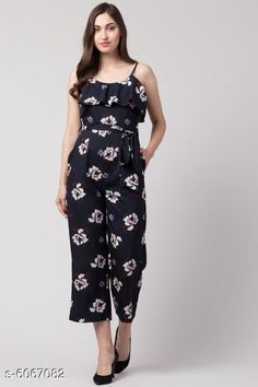 Jumpsuits Sia Attractive Women's Jumpsuit Fabric: Poly Crepe Sleeve Length: Sleeveless Pattern: Printed Multipack: 1 Sizes:  S (Bust Size: 36 in Length Size: 48 in Waist Size: 28 in)  XL (Bust Size: 42 in Length Size: 48 in Waist Size: 34 in)  XS (Bust Size: 34 in Length Size: 48 in Waist Size: 26 in)  L (Bust Size: 40 in Length Size: 48 in Waist Size: 32 in)  M (Bust Size: 38 in Length Size: 48 in Waist Size: 30 in) Country of Origin: India Sizes Available: XS, S, M, L, XL   Catalog Rating: ★4.2 (10606)  Catalog Name: Sia Attractive Women's Jumpsuit CatalogID_921725 C79-SC1030 Code: 345-6067082-5241