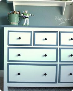 refinishing an IKEA Hemnes dresser. (use oil-based primer! Boy Dresser, Ikea Dresser, Dressers, Dresser Ideas, Furniture Projects, Furniture Makeover, Diy Furniture, Antique Furniture, House Projects