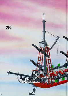 Thousands of complete step-by-step printable older LEGO® instructions for free. Here you can find step by step instructions for most LEGO® sets. Black Mode, Lego Pirate Ship, Lego Group, Lego Instructions, Lego Sets, Legos, Pirates, Travel, Lego Games