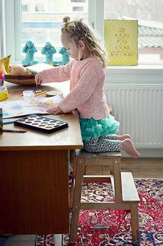 Kids Room Vintage Vloerkleed. Handgemaakt afkomstig uit Turkije. www.nativecolorliving.com world wide shipping