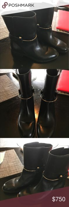 Authentic Balenciaga Boots ! Balenciaga Boots worn 1 time size 36 1/2 See pics Black Leather with Silver Hardware. Thanks for view! Balenciaga Shoes Ankle Boots & Booties
