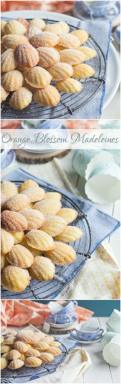 Orange Blossom Madeleines- these were easy to make and like nothing I've ever tasted before! Perfect for a shower or Spring brunch. ~ http://bakingamoment.com