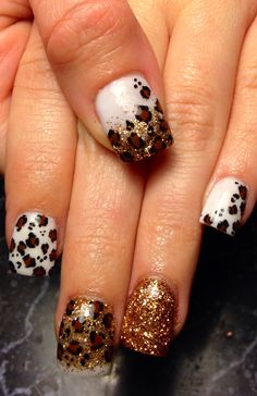 Cheetah nails. Animal print. Acrylic nails. Sculpted nails. Nails