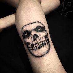 Misfits skull by Adam Vu Noir @ adamvunoir