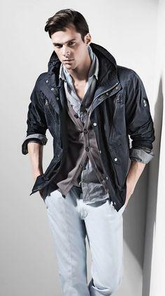 MAT GORDON men's casual layered look