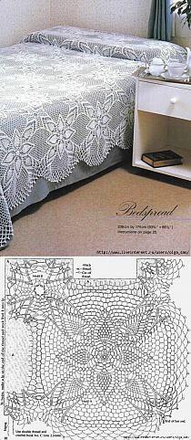 Mantel tejido crochet