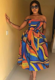 African Print Midi Dress/ Off Shoulder Dress/ African Clothing/ Ankara Dress/ Ankara print dress/ African print party dress - African Maxi Dresses, African Fashion Ankara, African Dresses For Women, African Print Fashion, African Attire, African Prints, African Style, Africa Fashion, Black Love