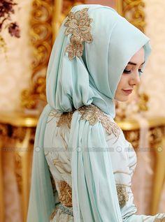 Sarmasık Evening Dress - Mint - Gamze Polat