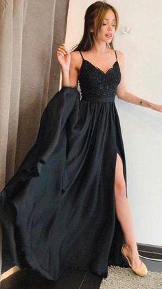 Sexy Evening Dress, Black Evening Dresses, Black Prom Dresses, Prom Dresses Online, Elegant Dresses, Evening Gowns, Latin Dresses, Sexy Dresses, Straps Prom Dresses