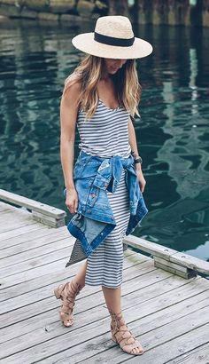 dbb3147b1 Vacation life — a versatile striped dress