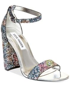 """Steve Madden Women's Carrson Ankle-Strap Dress Sandals 4"""" wrapped block heel in other colors as well"""