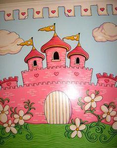 Princess castle mural design