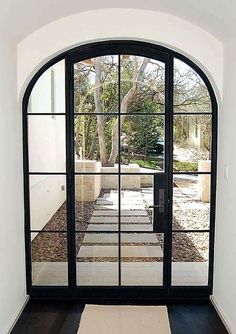 We hope these 6 trending window ideas offered great solutions for your next home remodeling project. - August 18 2019 at Steel Doors And Windows, Metal Windows, Arched Doors, Arched Windows, Entrance Doors, Steel Frame Doors, Arch Doorway, Black Windows, Iron Front Door