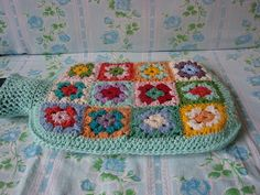 Hot Water Bottle Cover Granny Square