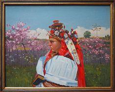 Joža Úprka (kopista): Nevěsta z Kunovic (Bride from Kunovice), pol. Folklore, Painting, Bride, Art, Ethnic Dress, Art Ideas, Wedding Bride, Art Background, Bridal