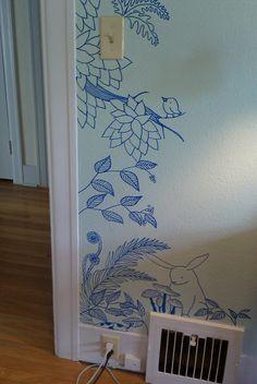 line drawing mural 2