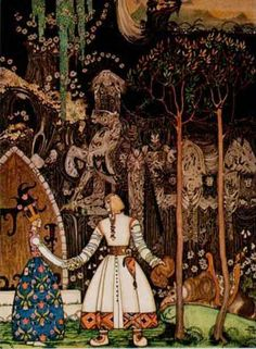 Kay Nielsen at Art Passions  Ther Wolf who was Waiting.   Hans Christian Andersen