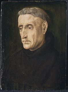 A Benedictine Monk - Hugo van der Goes.  c.1478.  Oil on wood.  25.1 x 18.7 cm.  Metropolitan Museum of Art, New York City NY, USA.
