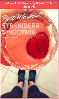 Post Workout Strawberry Banana Protein Smoothie #banana #Post #protein #Smoothie #strawberry #workout Fruit Smoothies, Strawberry Banana Protein Smoothie Recipe, Protein Smoothie Recipes, Raspberry Smoothie, Good Smoothies, Pineapple Smoothies, Diabetic Smoothies, Vegan Smoothies, Post Workout Protein Shakes