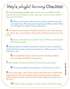 Print this free printable, hang it on your fridge and enjoy 10 simple and fun ways to learn in May.
