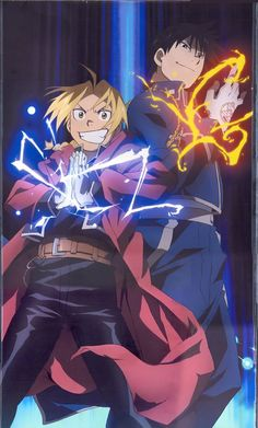 #Fullmetal Alchemist - Edward Elric & Mustang( or mustard is what my friends and I call him)