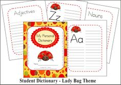 Christian Home School Hub - cute Personal Dictionary for kids