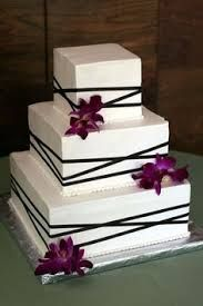 square simple wedding cakes - Google Search