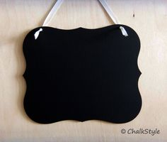 Chalkboard Sign : make and hang on drink canisters etc to tell types and flavors- GOT IT