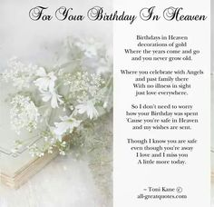 Happy birthday in heaven images quotes for friend brother sister daughter son wife husband uncle aunt grandmother grandfather.Wishing someone a happy birthday in heaven. Dad In Heaven Quotes, Birthday In Heaven Quotes, Happy Birthday In Heaven, Happy Birthday Husband, Birthday Poems, Sister Birthday Quotes, Dad Birthday, Free Birthday, Birthday Cards