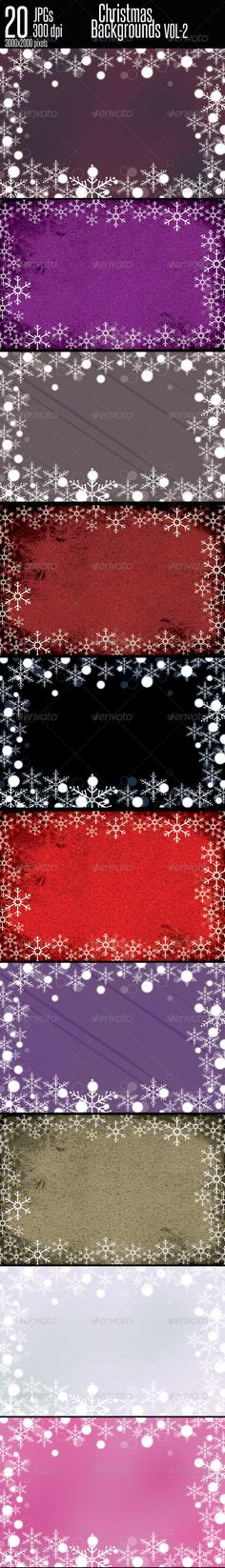 Christmas Backgrounds Vol-2  #GraphicRiver         These are clean Christmas backgrounds where snowflakes move round the boarder, as well as bokeh effect at boarder gives additional beauty.    File Details:  20 JPGs 3000×2000 pixels (10×6.667 inches)  300 dpi CMYK Print Ready If you like it please rate it with stars Lights & Flares Collection               BLURRED BACKGROUNDS     Grunge Background Collection       Soft Grunge Background Collection      BACKGROUNDS JUST FOR $2  …