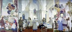 "Gerald Moira: ""No. 3 Canadian Stationary Hospital at Doullens"" 1918"