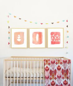 love the prints and bunting so much! @Children Inspire Design