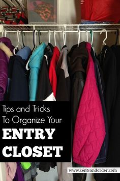 How To Organize A Small Entry Closet