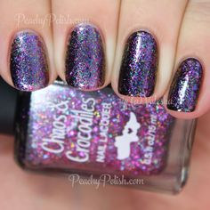 Chaos & Crocodiles Charmed | Dreaming Of Dragons Collection | Peachy Polish #purple flakies