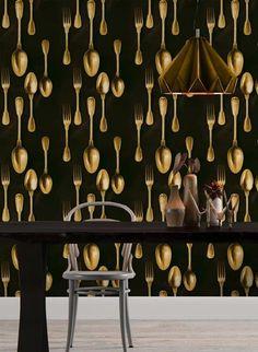 Besteck Tapete Cutlery Von MINDTHEGAP 3408