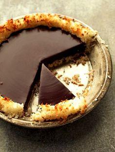 Recipe: Crisp Coconut and Chocolate Pie (coconut crust, 4 ingredients, food processor, with photos) - Recipelink.com