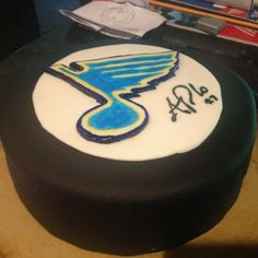 The Blues Hockey cake I made for a friends birthday