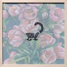 Lemur artwork for sale by Adele van Heerden Tulip Drawing, Tiger Drawing, Soldier Drawing, Lemur, Online Art Gallery, Adele, Gouache, Van, African