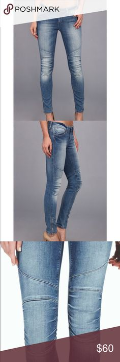 Mavi Jesy Low Rise Skinny Biker Ankle Denim Jeans Mavi Jesy Low Rise Skinny Biker Ankle Denim Stretch Jeans Size 27. Gently used condition. Zipper ankle and punk stitched knees. Be glamorous and tough all at the same time. Beautiful color and quality. @24HourCloset Mavi Jeans Skinny