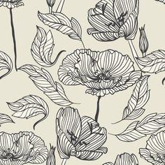 Papel de Parede Floral 1619