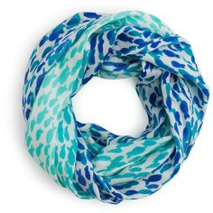 kate spade new york School of Fish Infinity Scarf ($98) ❤ liked on Polyvore featuring accessories, scarves, infinity loop scarves, infinity scarves, dressy shawls, round scarves and tube scarves
